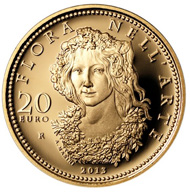 Italy / 20 euros / .900 gold / 6.451g / 21mm. Mintage: 1,500.